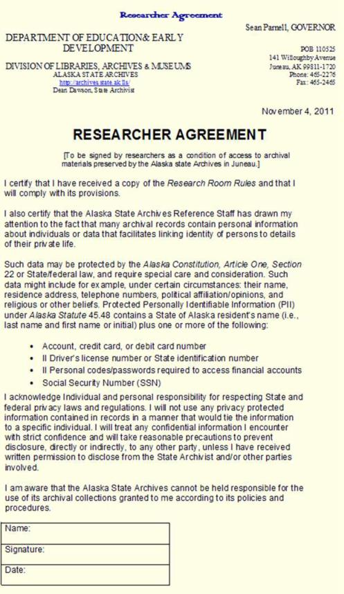 researcher agreement