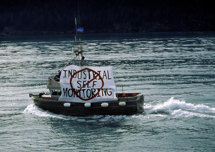 View record for Exxon Valdez Oil Spill slides from Cowper Administration.